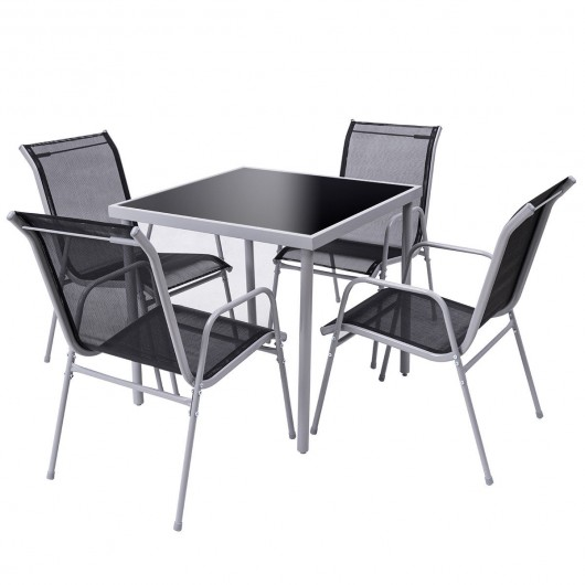 5 pieces bistro set garden chairs and table set outdoor furniture