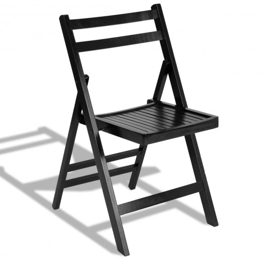 Set Of 4 Solid Wood Folding Chairs