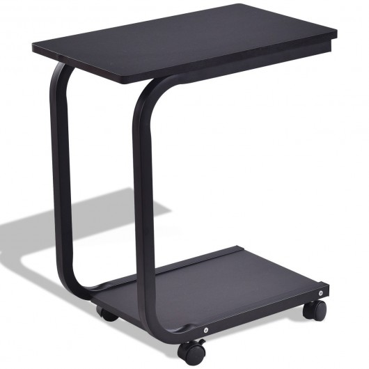 Attrayant 2 Tier Snack Stand Rolling Sofa Side Table