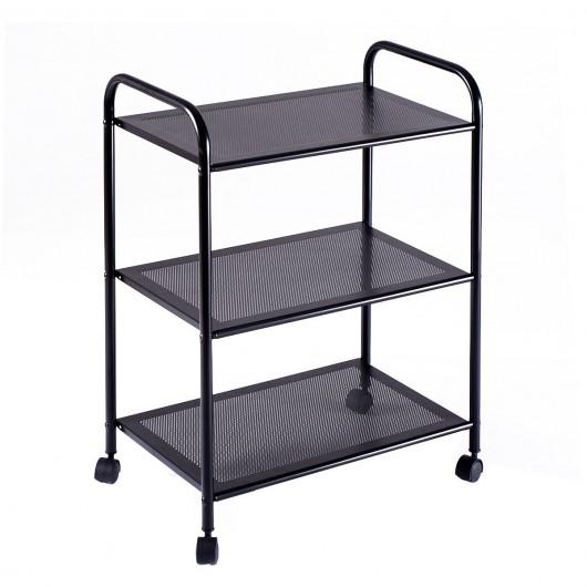 3-Tier Rolling Display Storage Shelf  sc 1 st  Costway & 3-Tier Rolling Display Storage Shelf - Bookcases u0026 Standing Shelves ...