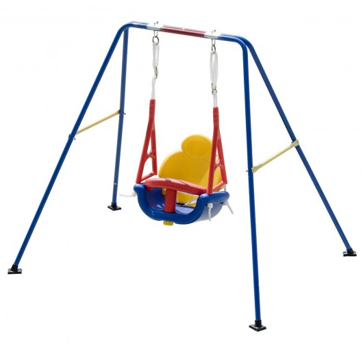 A-Frame Kids 3-in-1 Toddler Swing Set - Play Swings - Outdoor Play ...