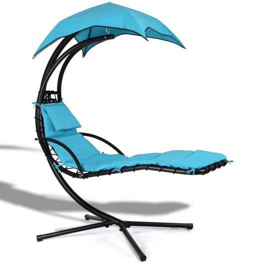 Hanging Arc Stand Porch Swing Hammock Chair W/ Canopy