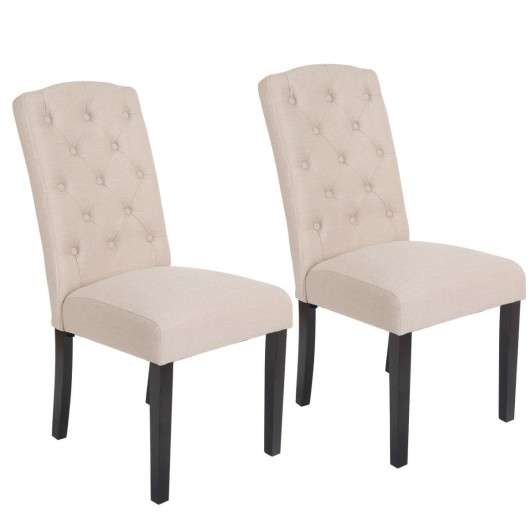 set of 2 modern accent fabric dining chairs kitchen dining room