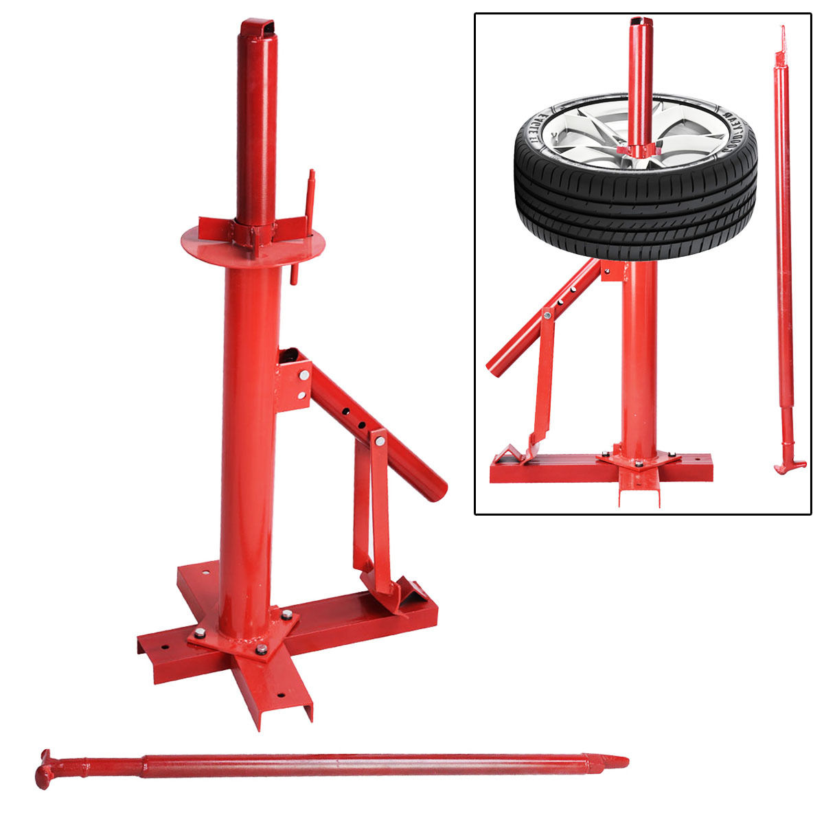 Home Shop Auto Manual Portable Hand Tire Changer