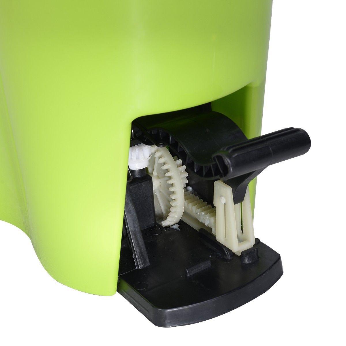 Magic Spin Mop Microfiber Spining W/Bucket 2 Heads 360° Rotating Floor Mop Easy