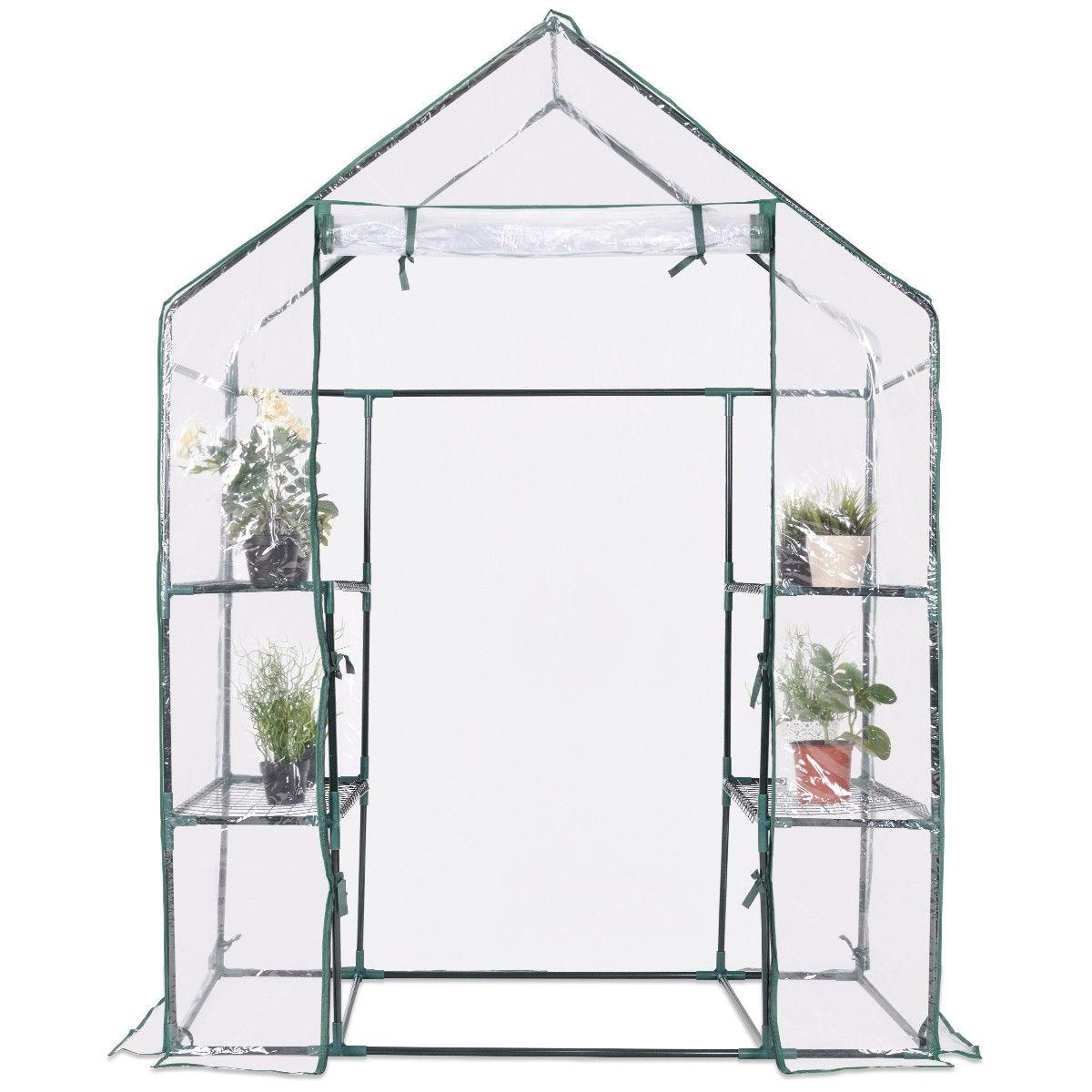 Portable Outdoor 4 Shelves Greenhouse