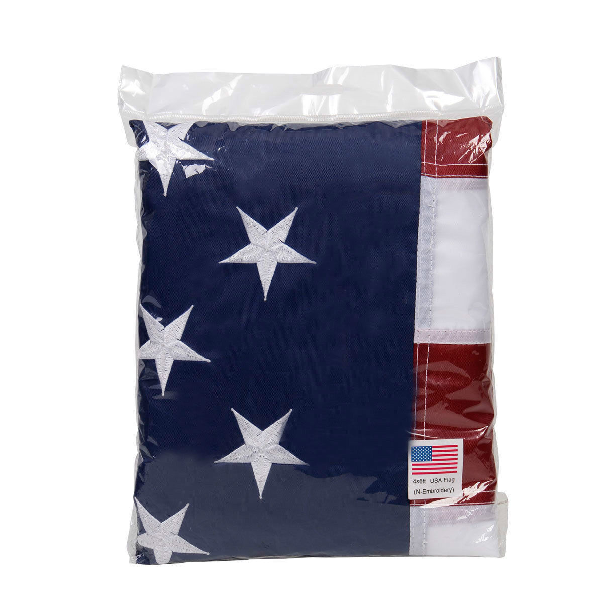 4' x 6' US American Embroidered Flag