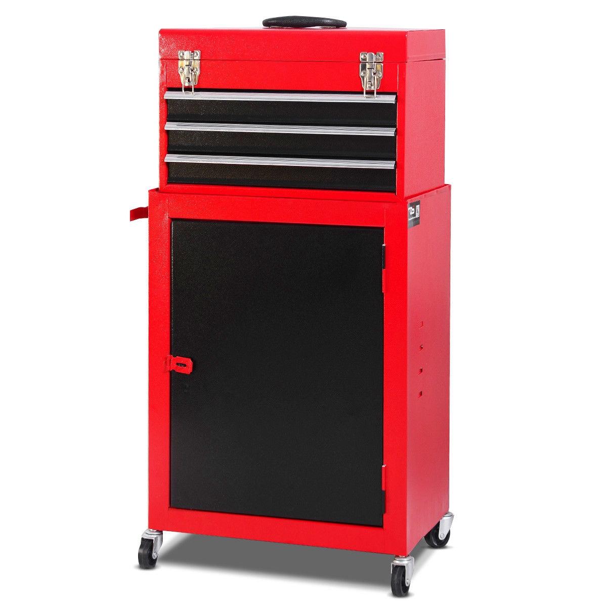 2pc Mini Tool Chest Cabinet Storage Toolbox