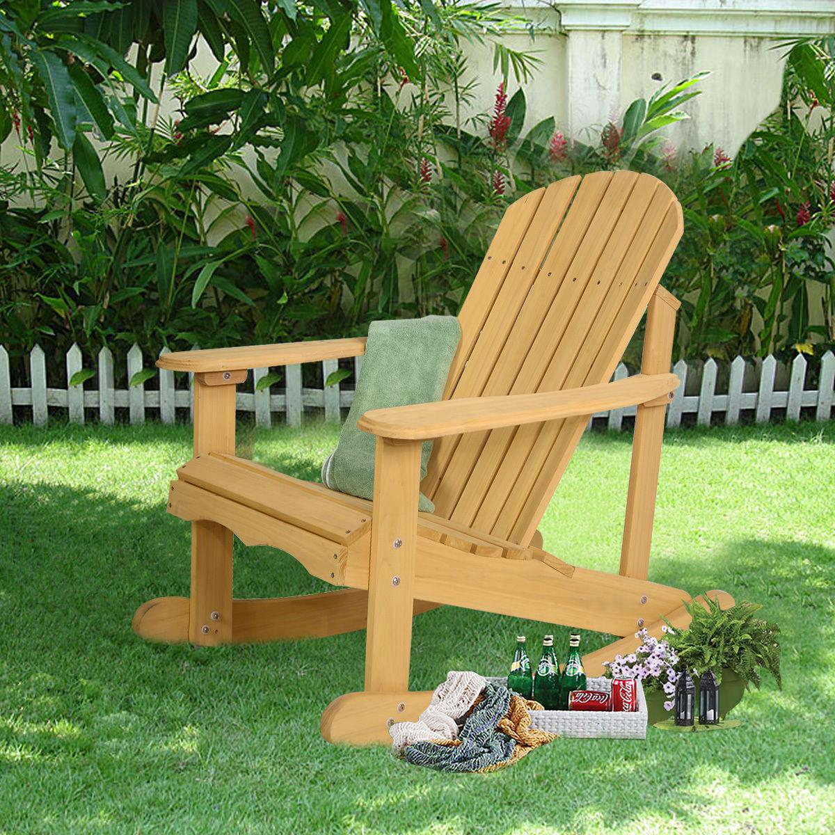 Outdoor Adirondack Rocking Chair Garden Furniture