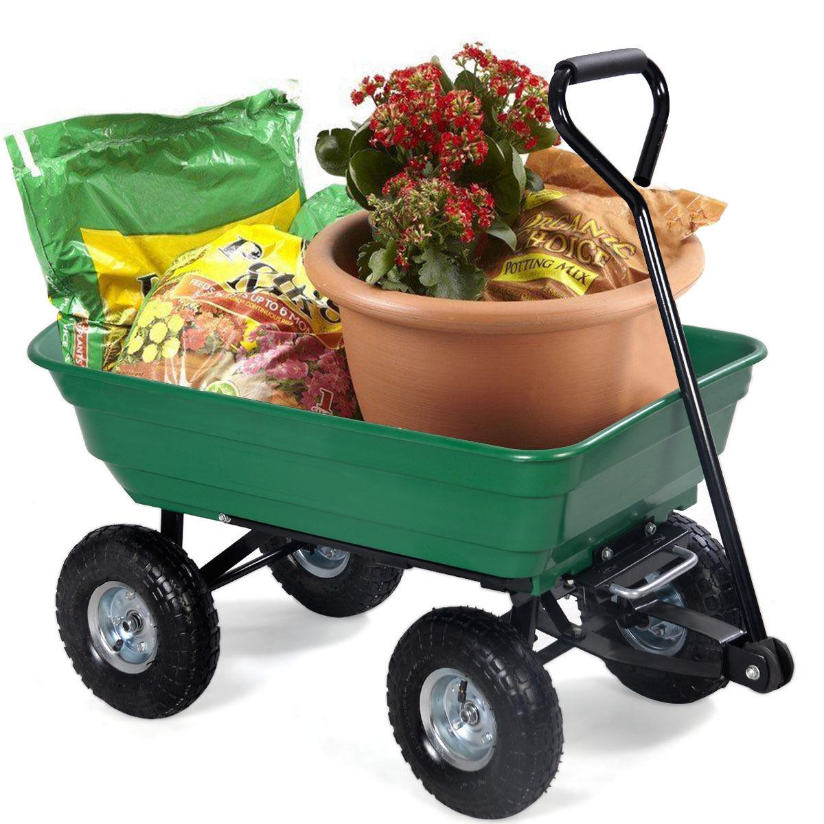 650 Lbs Garden Dump Cart Dumper Wagon Carrier
