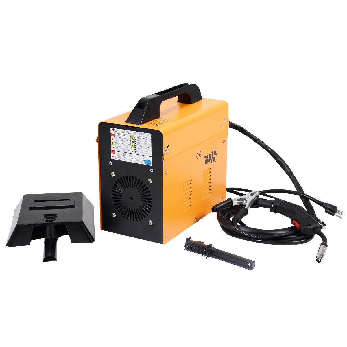 Yellow MIG 130 Automatic Feed Welding Machine w/ Free Mask