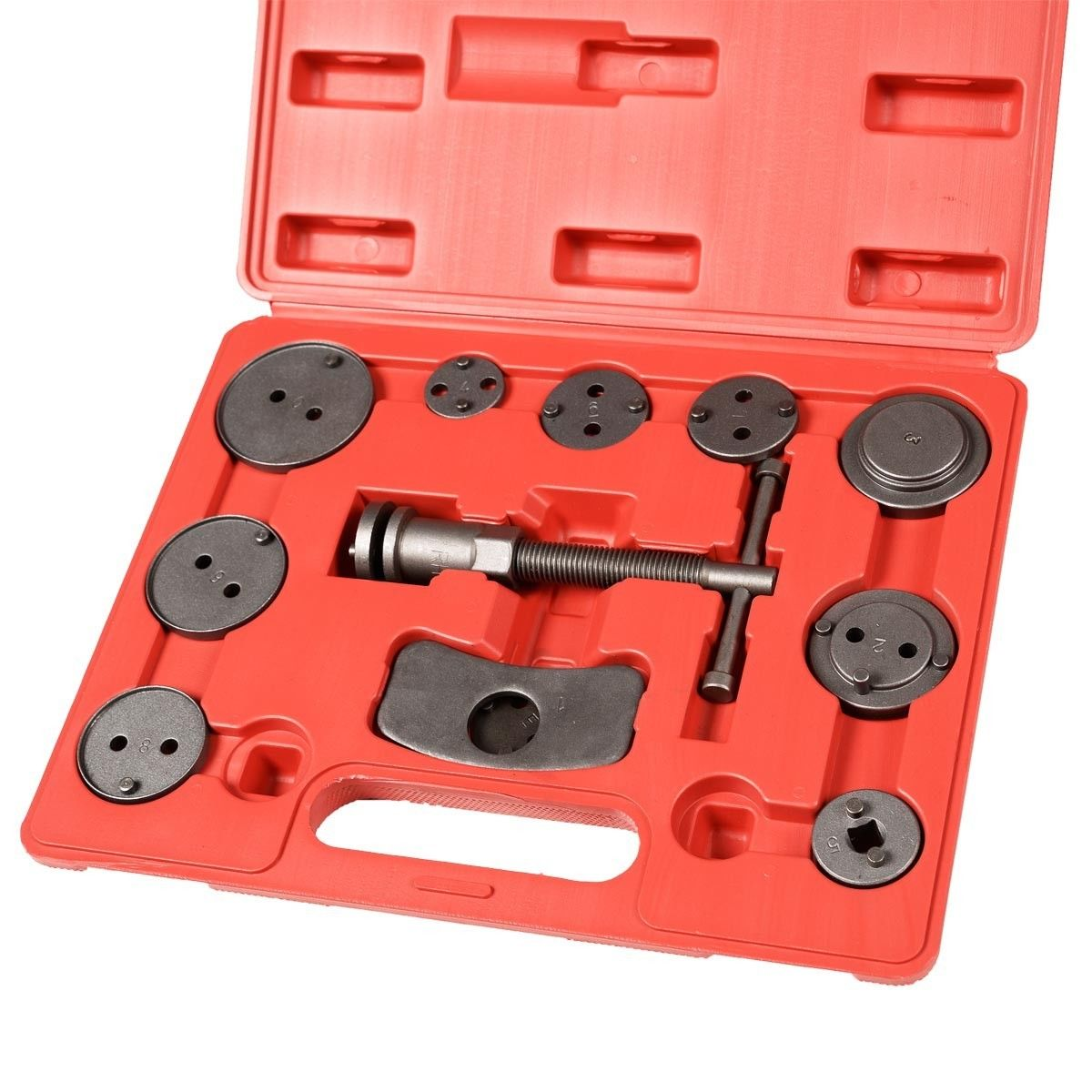 12 PC Universal Disc Brake Piston Caliper Rewind Back Tool Kit Automotive Tool