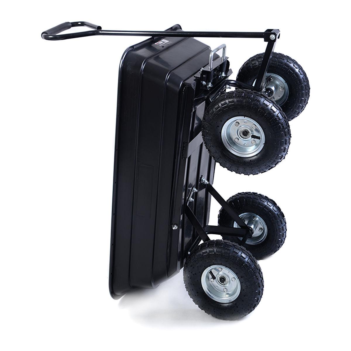 660 lbs Garden Heavy Duty Dump Cart Dumper