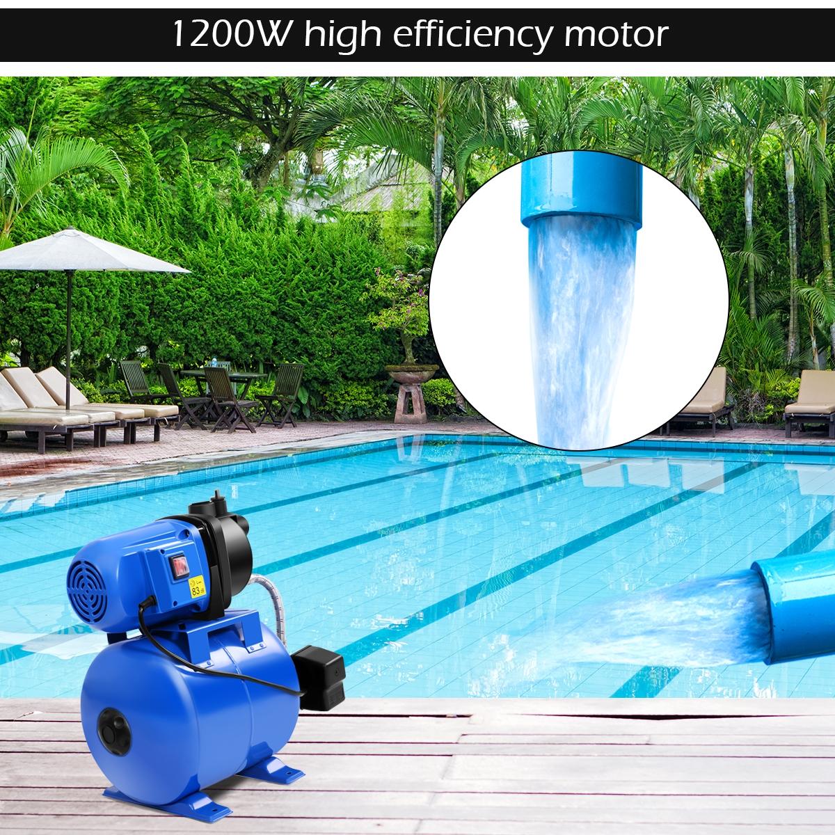 1200W Garden Water Pump Shallow Well Pressurized Home Irrigation 1000GPH