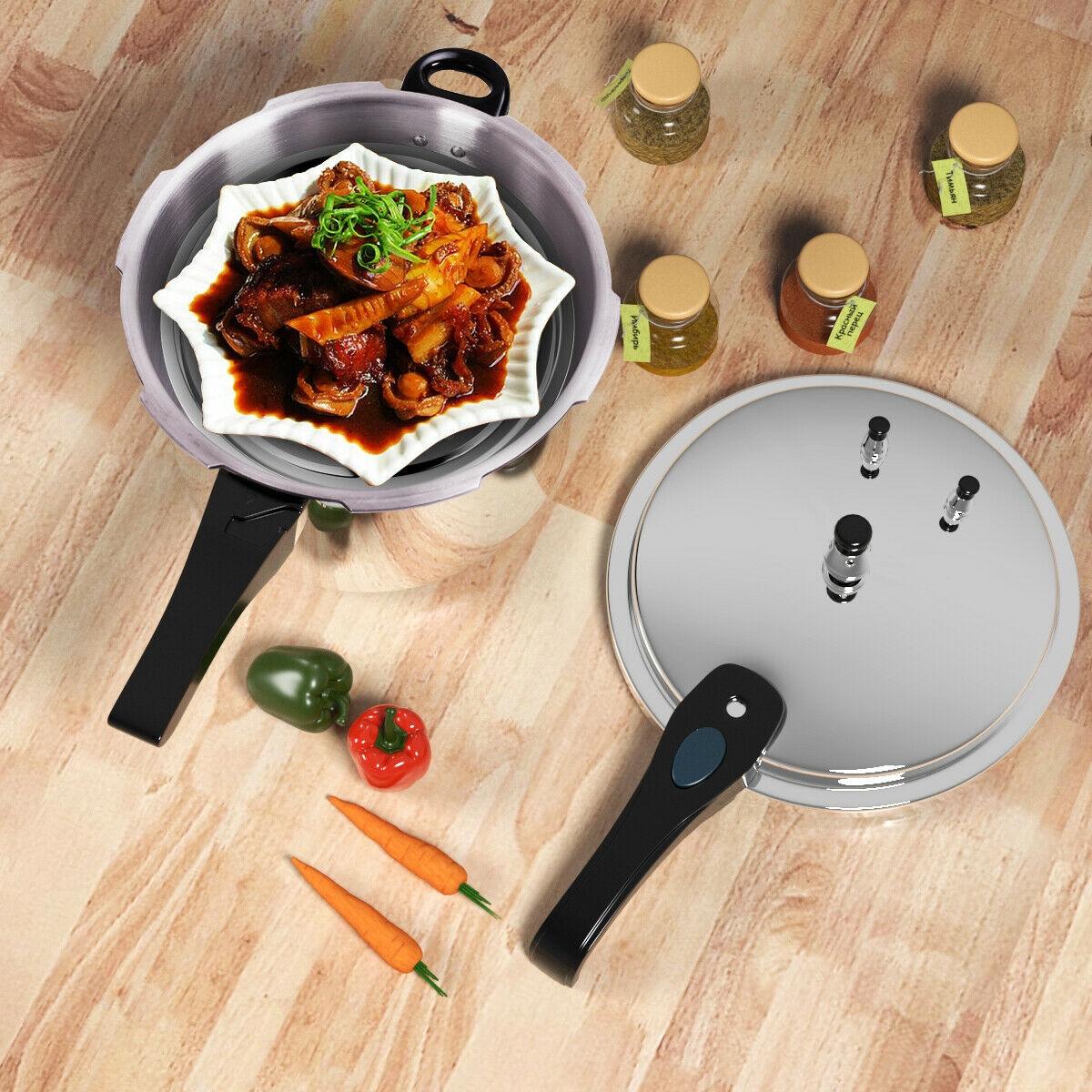 6-Quart Aluminum Pressure Cooker Fast Cooker Cookware