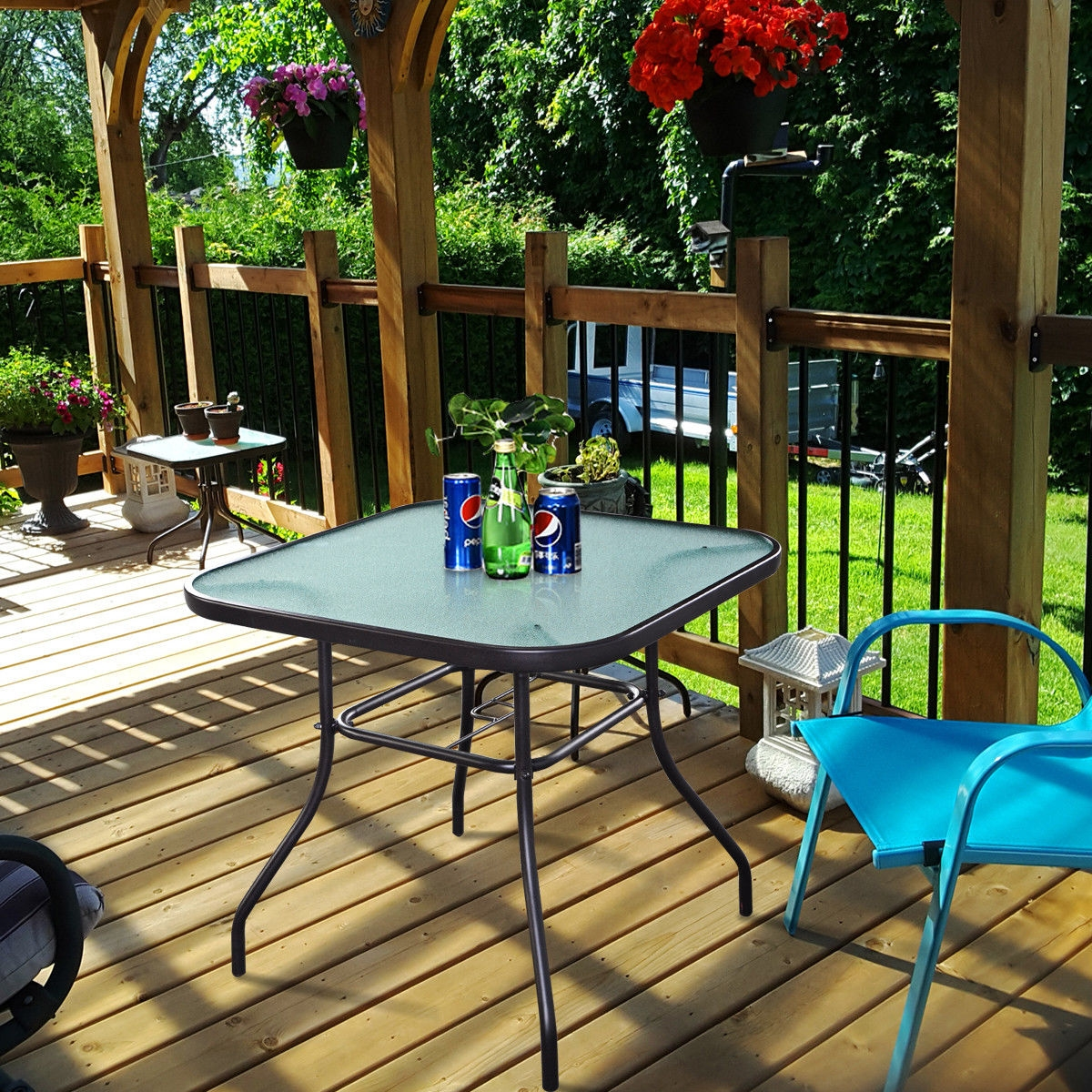 Outdoor Patio Square Dining Table