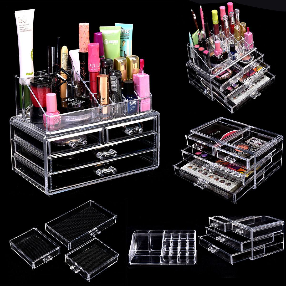 Acrylic Makeup Cosmetic Organizer Storage Box