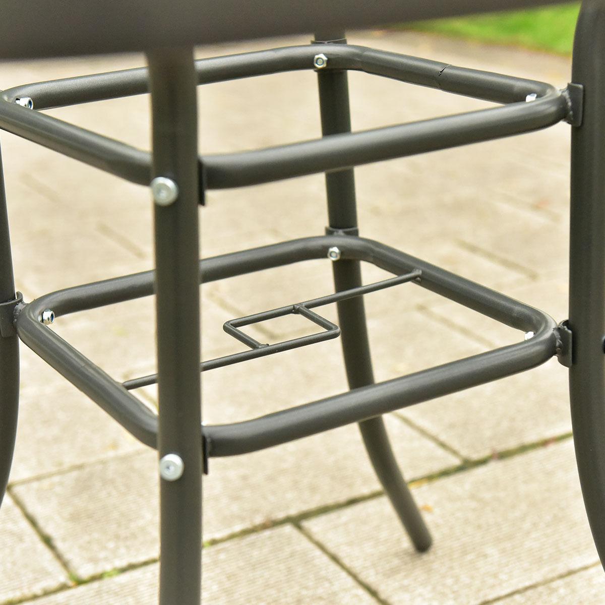 6 pcs Patio Folding Furniture Set with an Umbrella