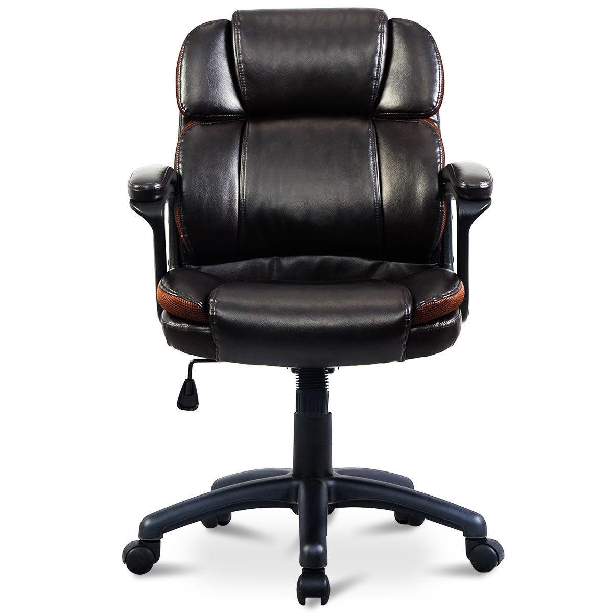 Dark Brown Ergonomic Mid-Back Office Chair