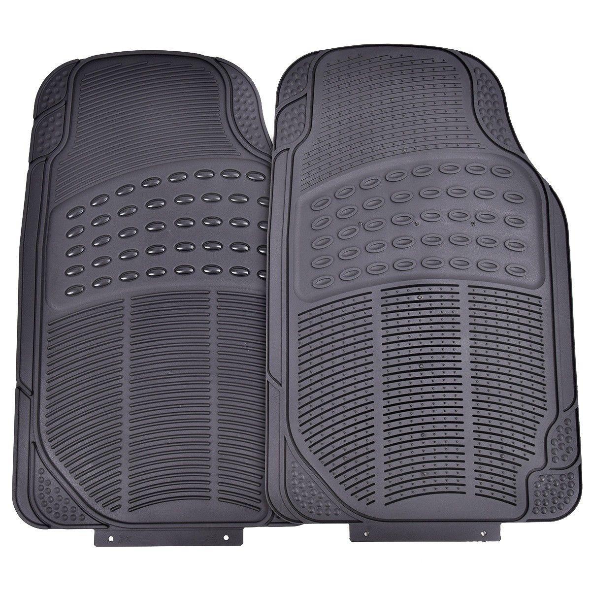 3PC Universal Car Van Front &Rear Floor Mats All Weather Heavy Duty PVC Protect-Black