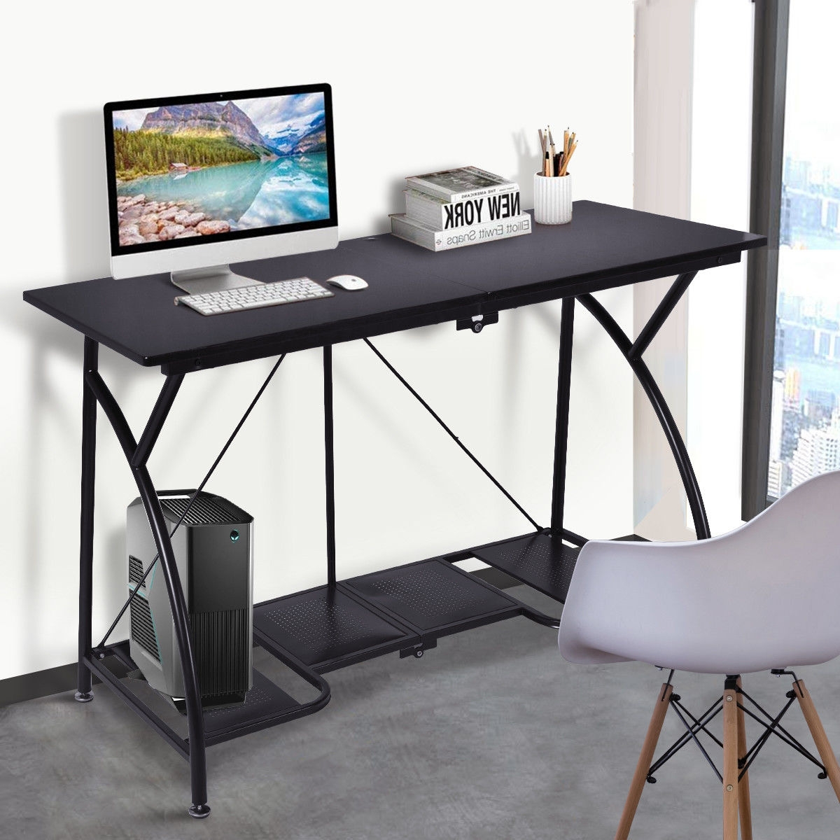 Modern Folding Computer Desk Writing Table