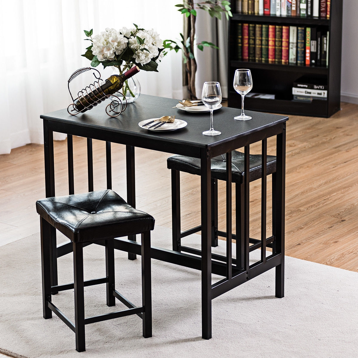 3 pcs Modern Counter Height Dining Set