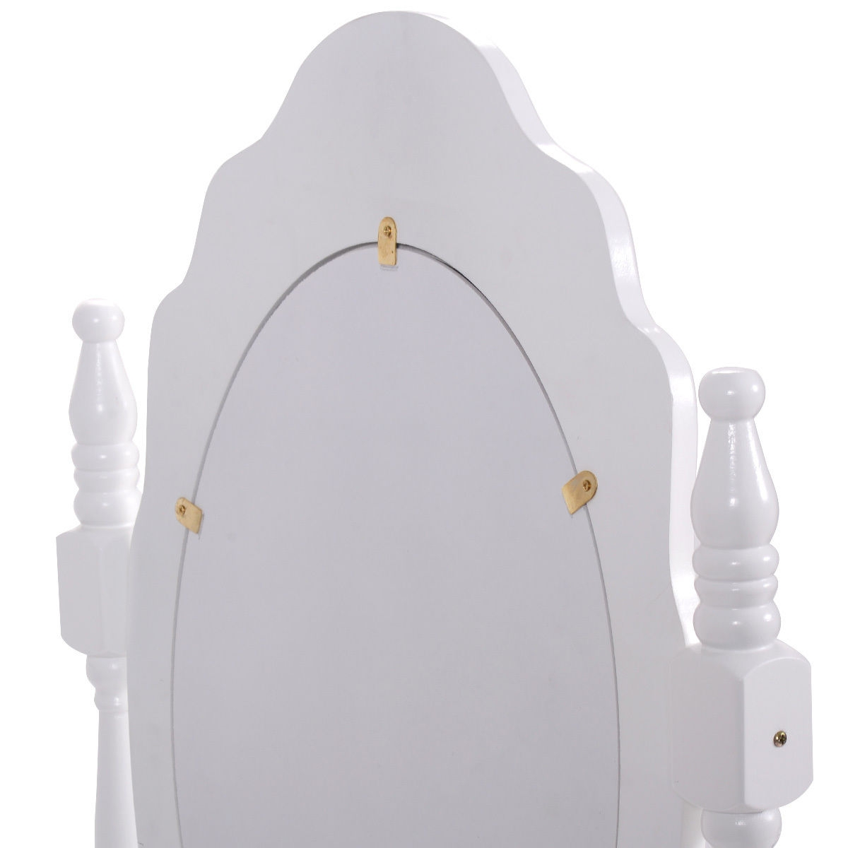 White Vanity Makeup Dressing Table with Mirror + 3 Drawers