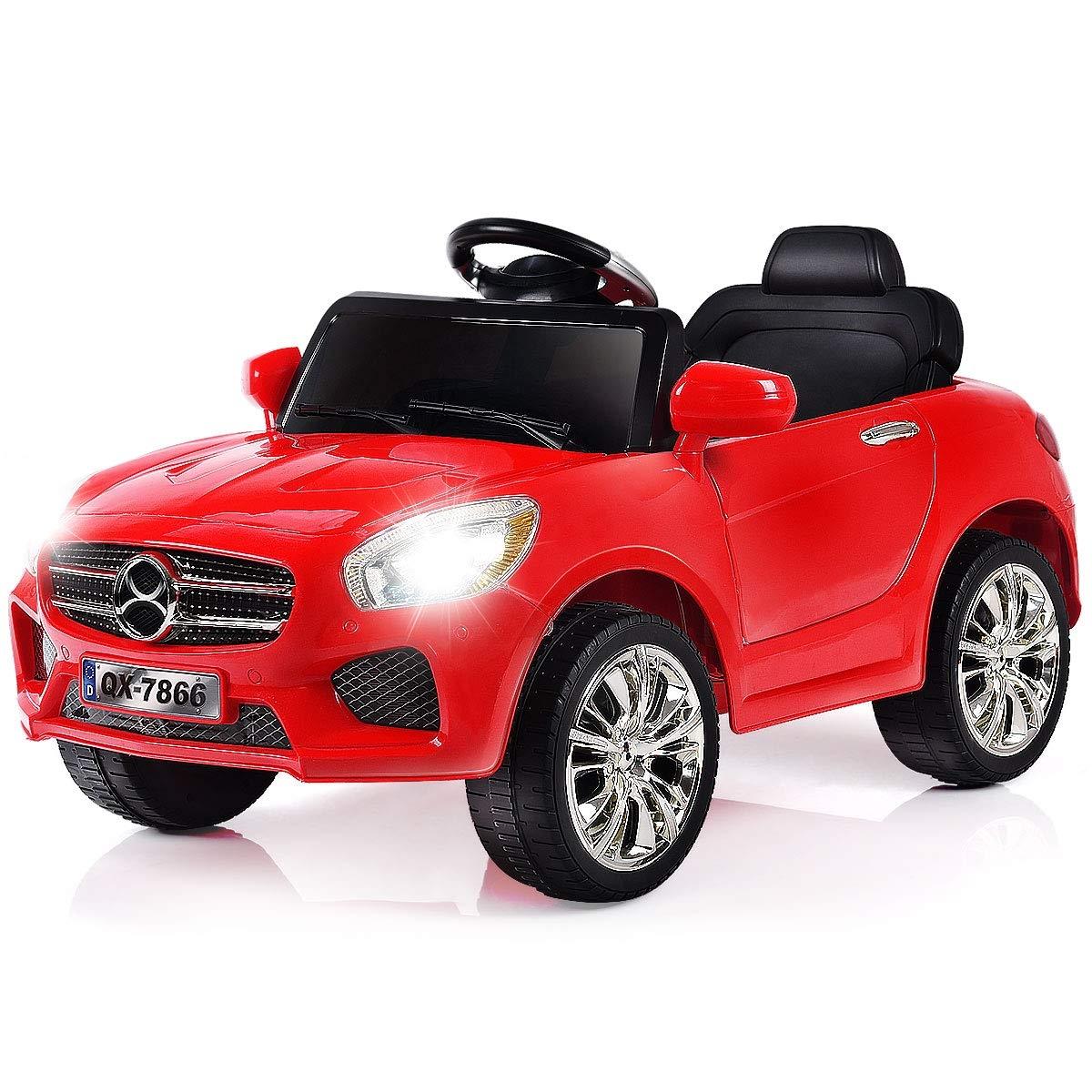 6 V Kids Ride on Car w/ RC + LED Lights + MP3