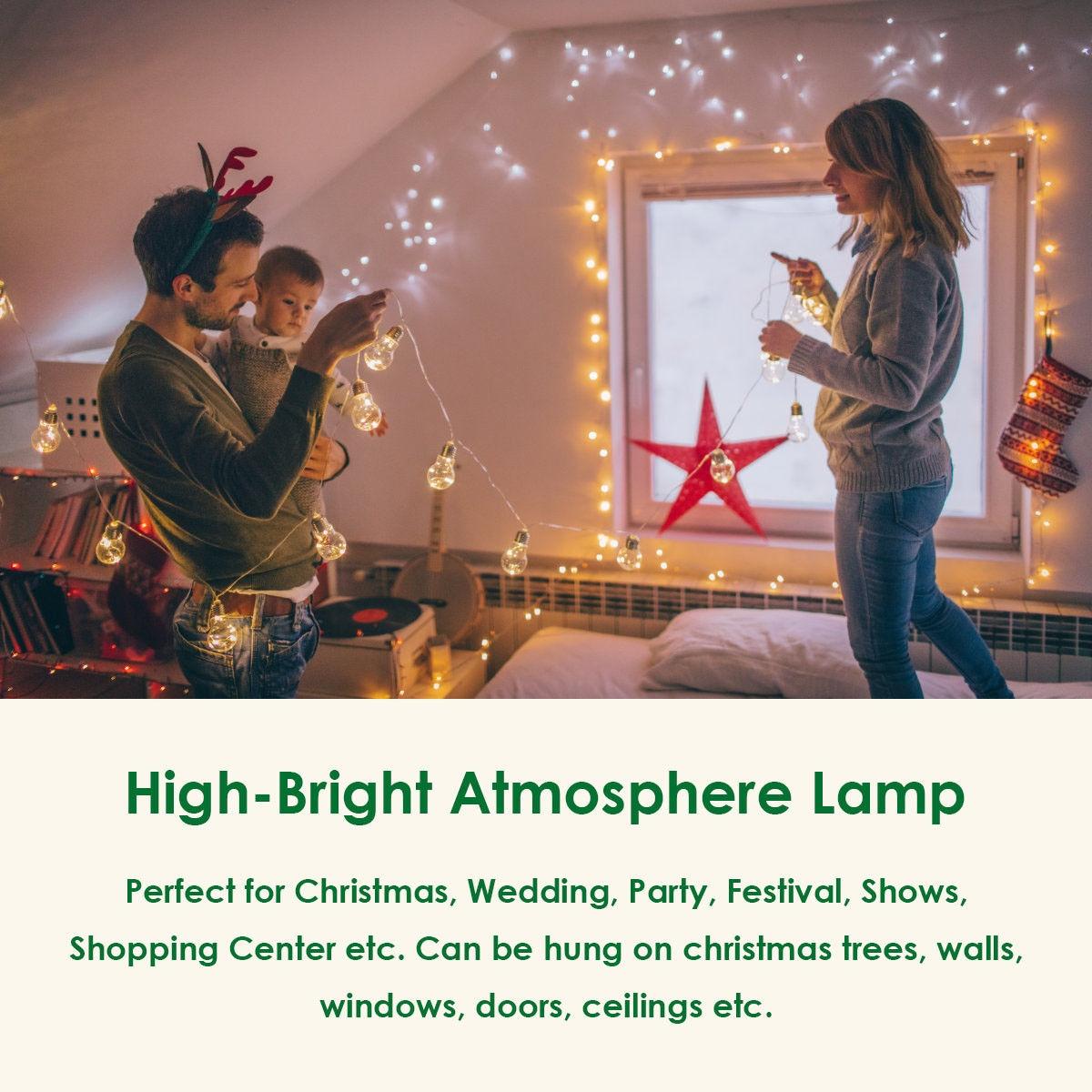 Christmas 10 LED String Ball Decor Lights