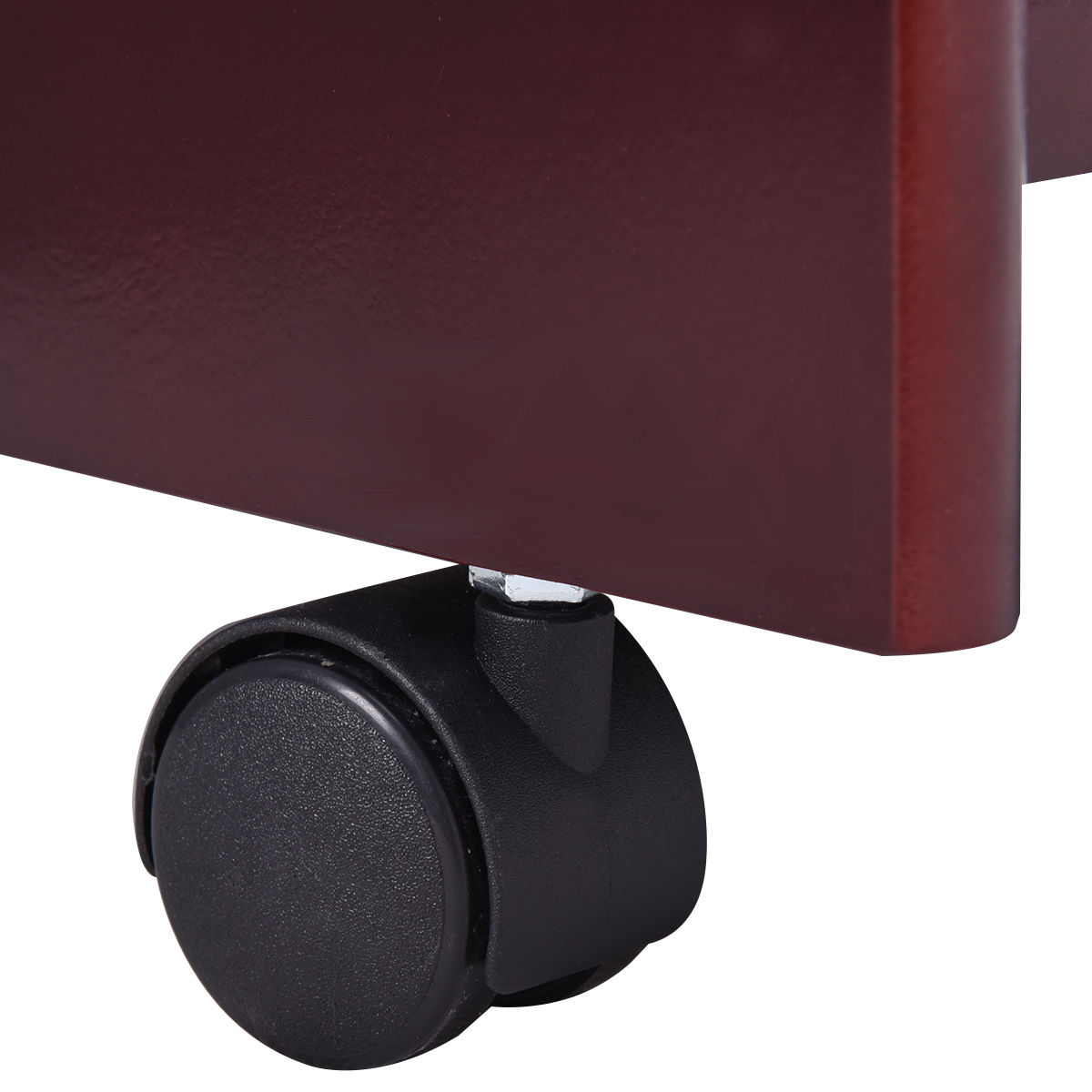 Rolling Wood Storage Cabinet Shelf