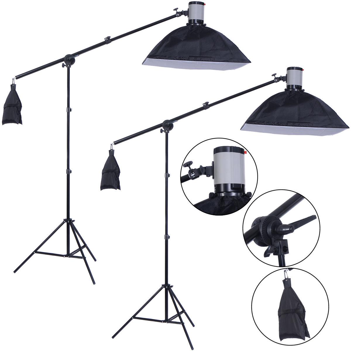 2 X 160W Photography Lighting Studio Flash Light Softbox