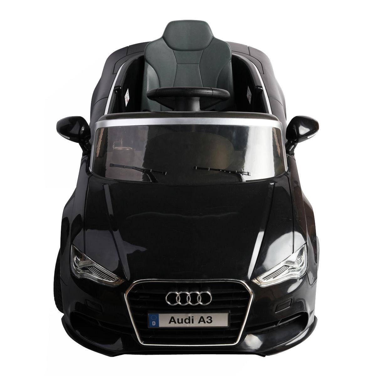 12V Audi A3 Licensed RC Kids Ride On Car Electric Remote Control LED Light Music-Black