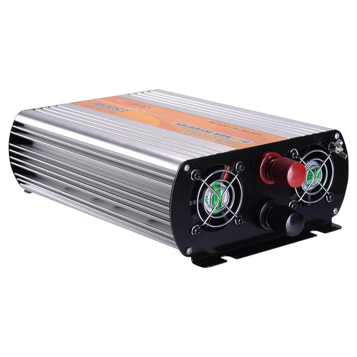 1500W 12V DC TO 110V AC Automotive Power Inverter