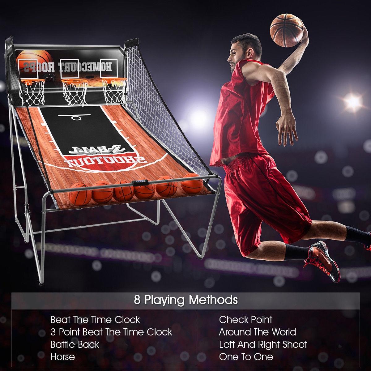 Indoor 3 Player Electronic Hoops Basketball Arcade Game