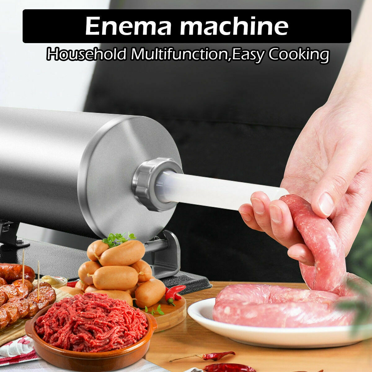4.8 L Sausage Stuffer Maker Meat Filler Machine