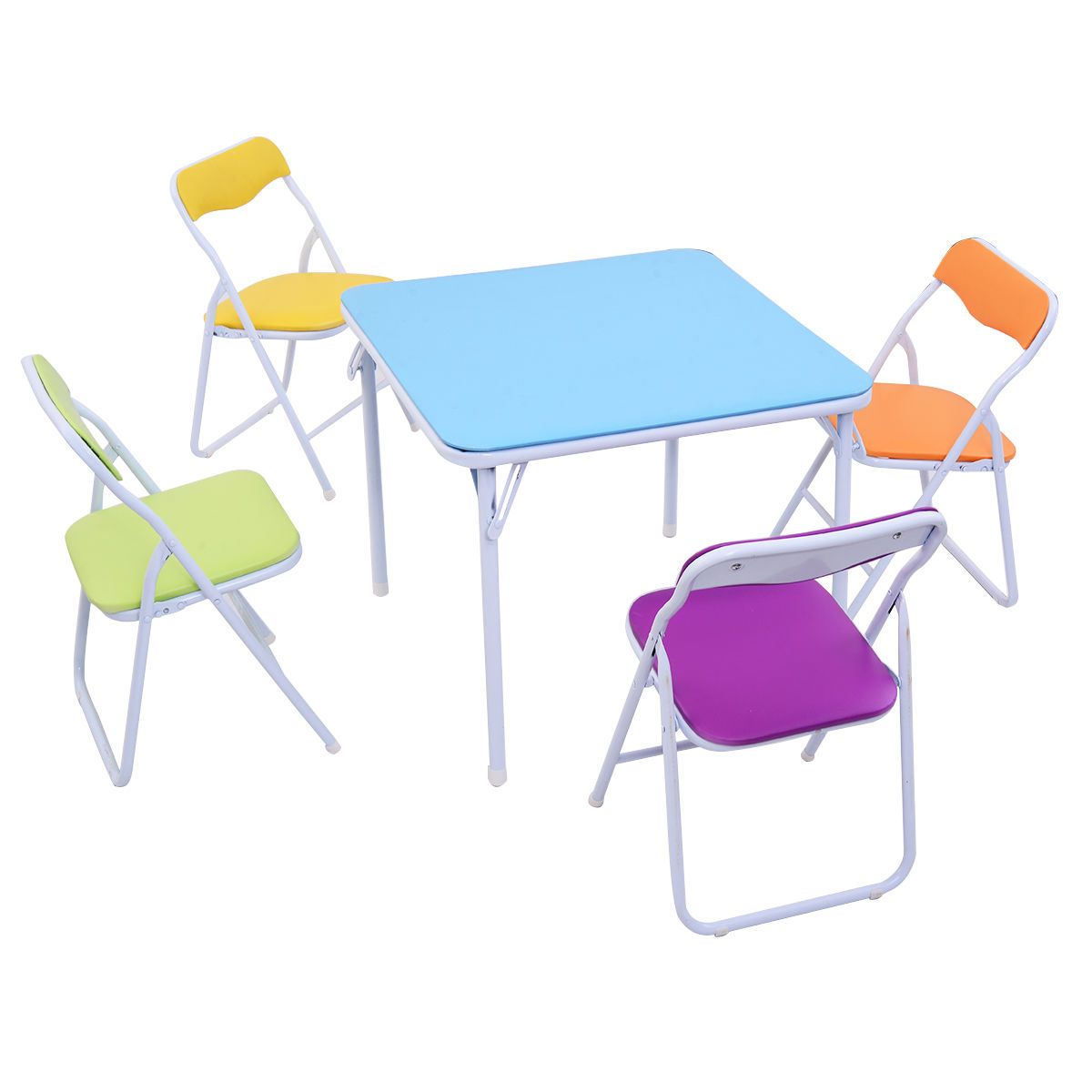 Set of 5 Multicolor Kids Table and Chairs