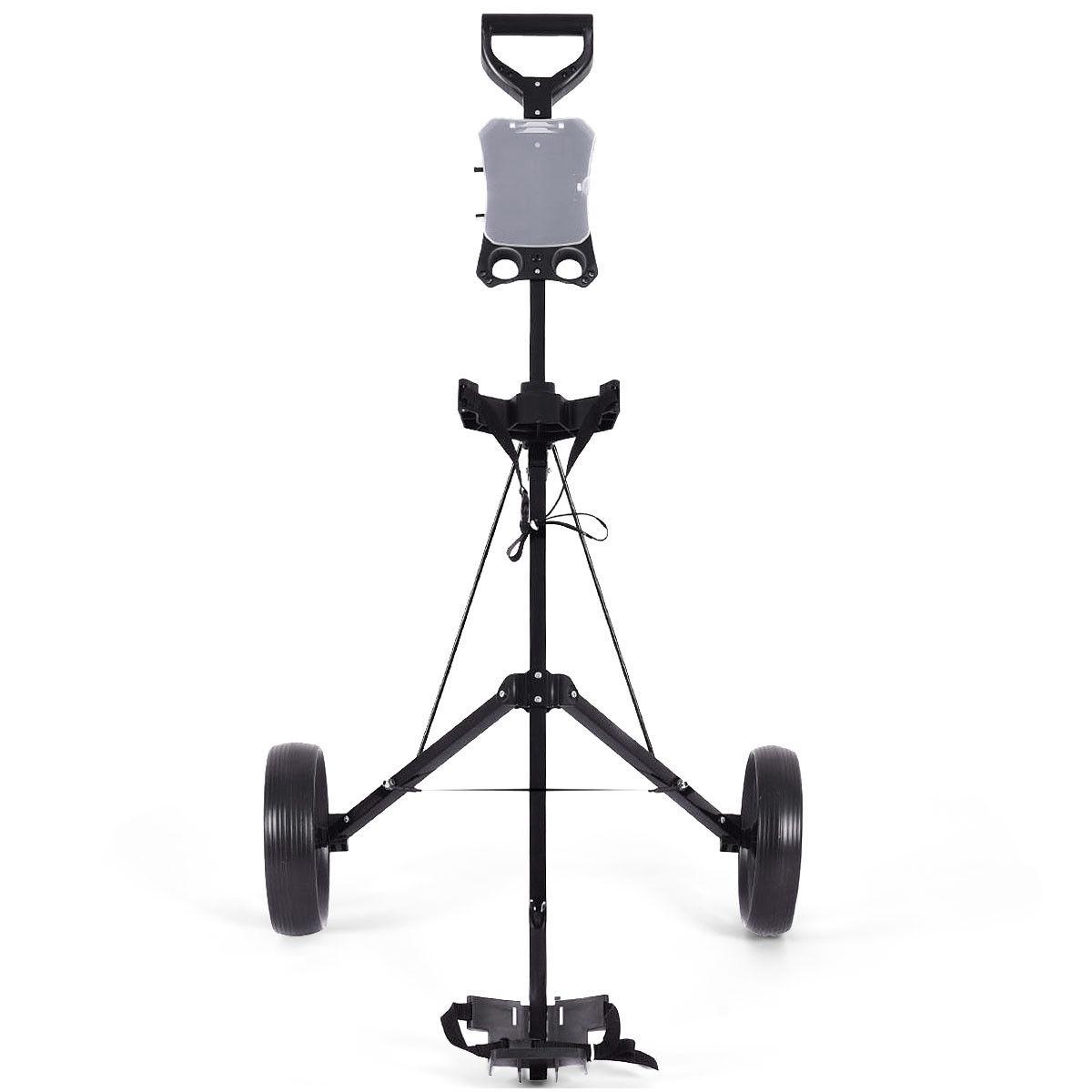Folding 2 Wheels Push Pull Golf Cart Trolley with Scoreboard