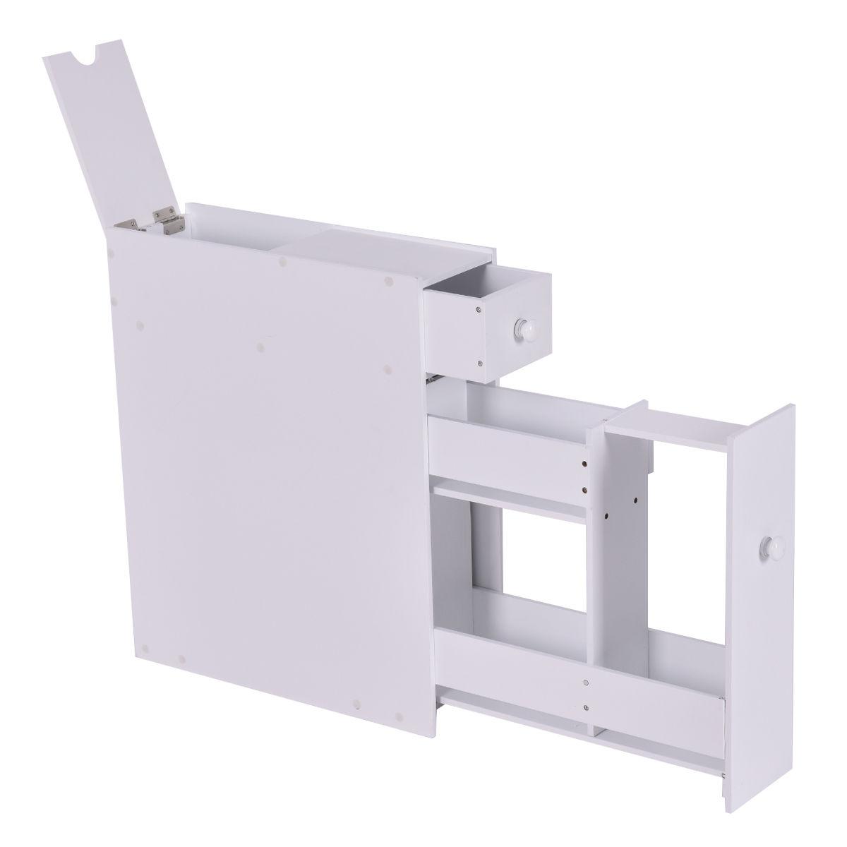 White Bathroom Cabinet Space Saver Storage Organizer