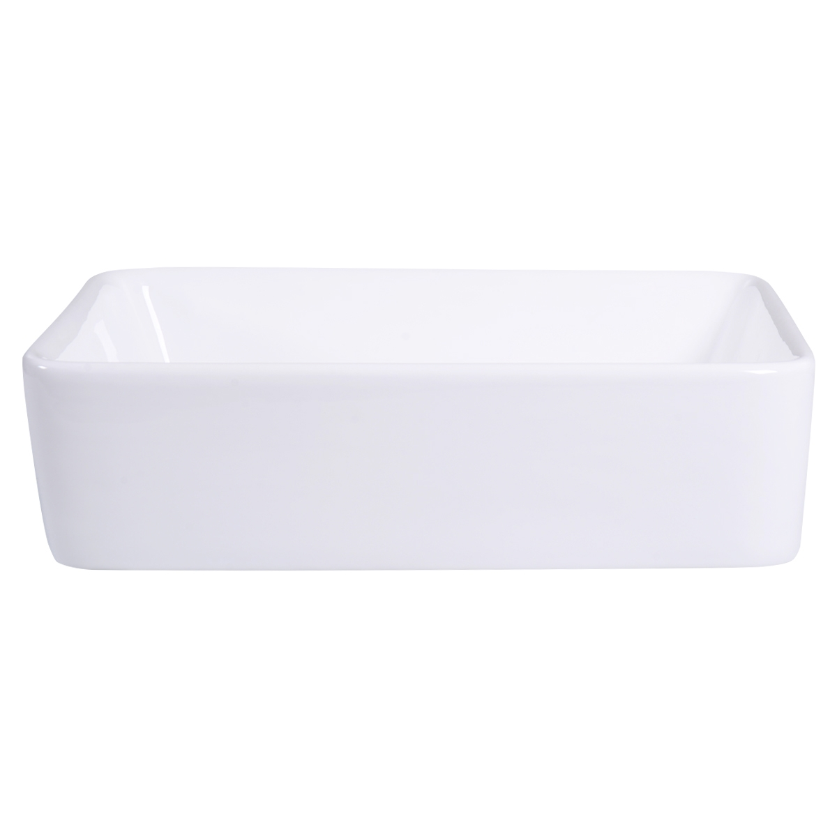 Bathroom Rectangle Ceramic Vessel Sink