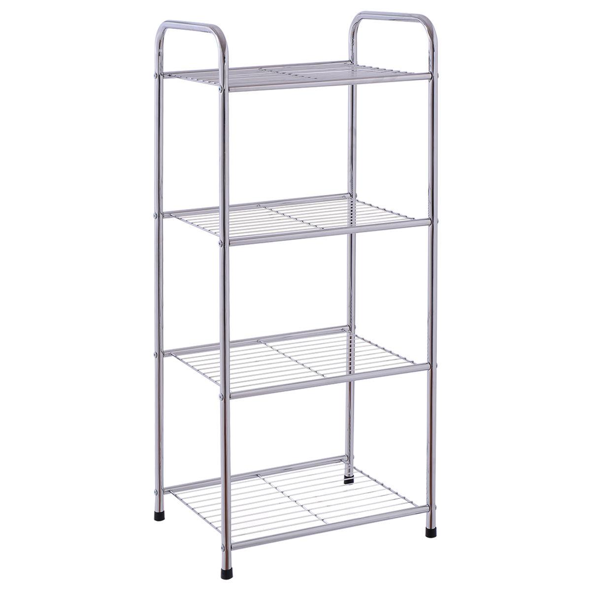 4-Tier Metal Storage Display Shelf