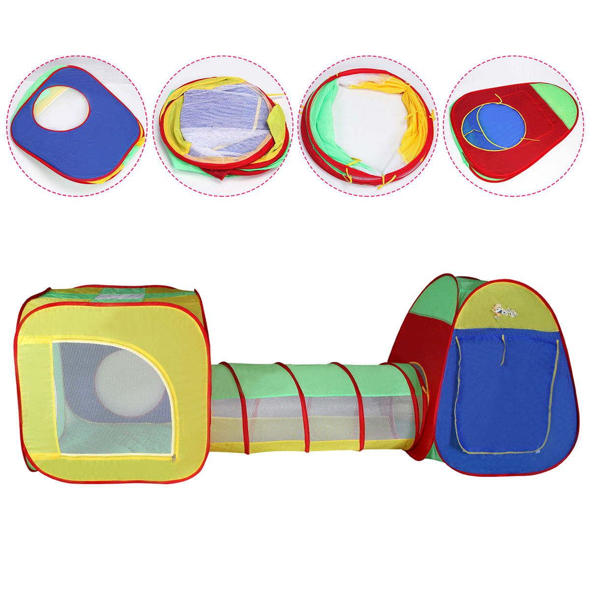 Portable Baby Tunnel Play Tent