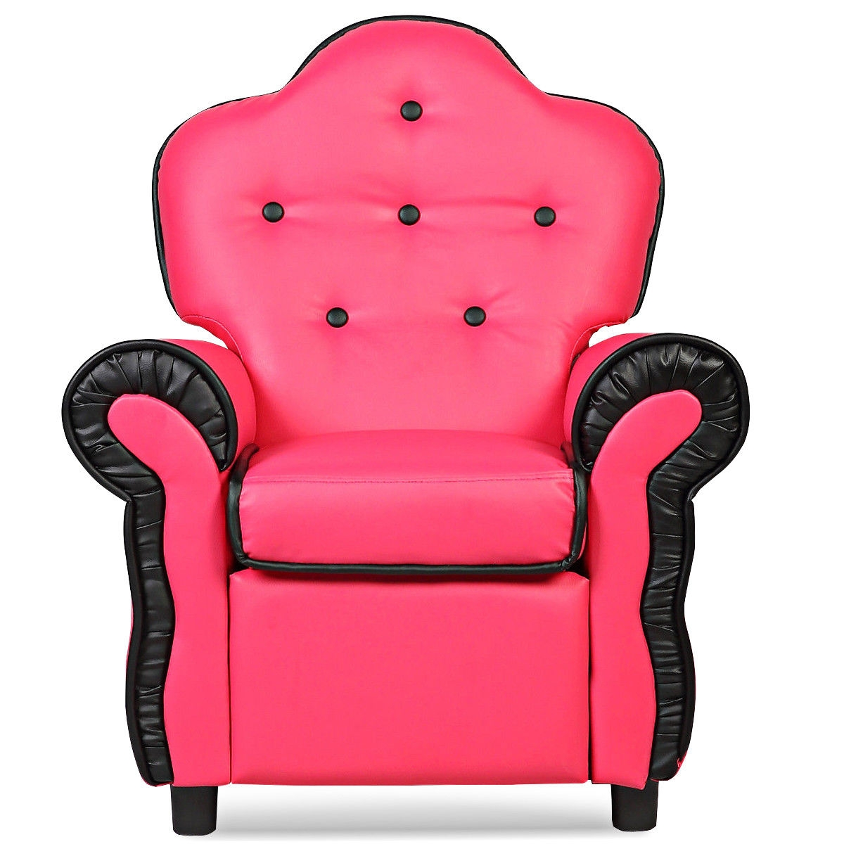 Black/Pink/Orange Living Room Kids Sofa