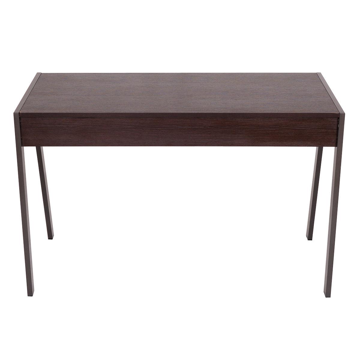 Wood Top Metal Frame Computer Desk