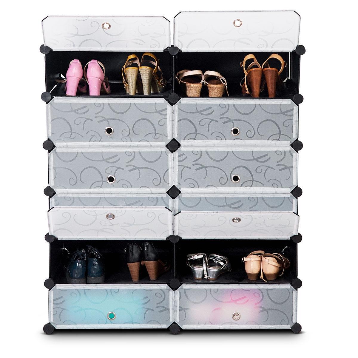12 Cubes Portable Shoe Rack