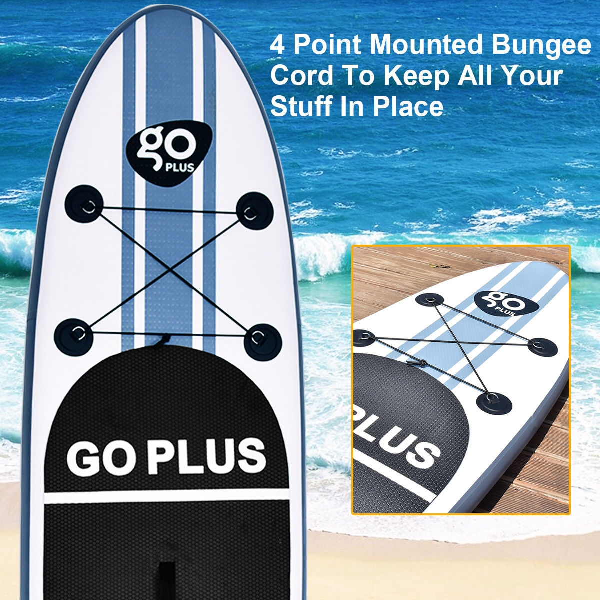Goplus 10' Inflatable Stand Up Paddle Board SUP w/ 3 Fins