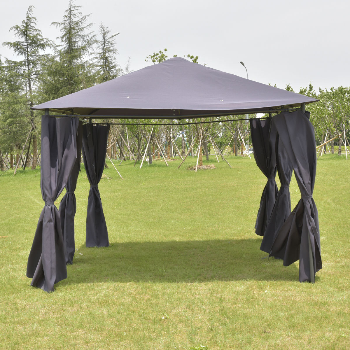 Outdoor 10' x 13' Gazebo Canopy Tent Shelter-Gray