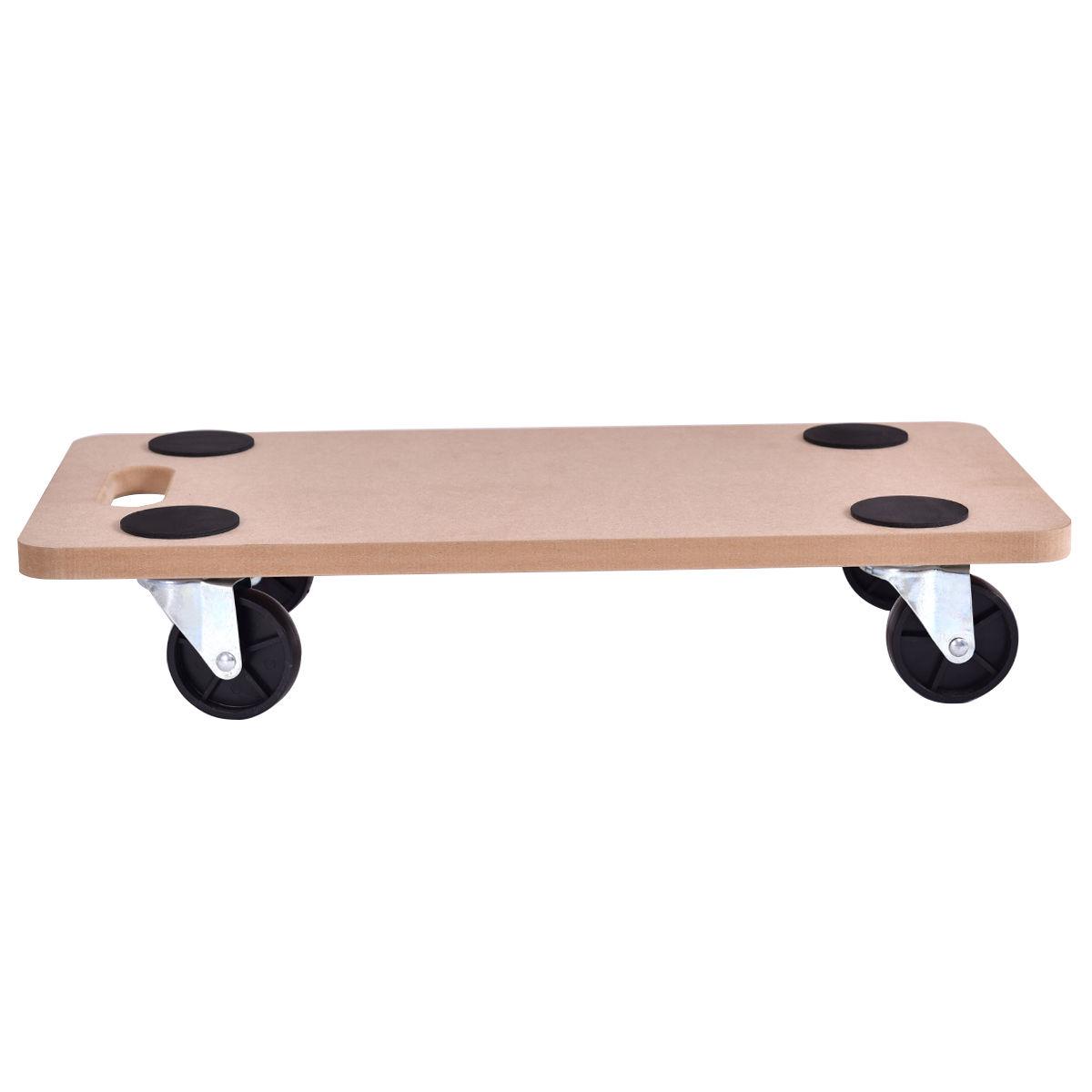 440 lbs Platform Dolly Rectangle Wood Utility Cart