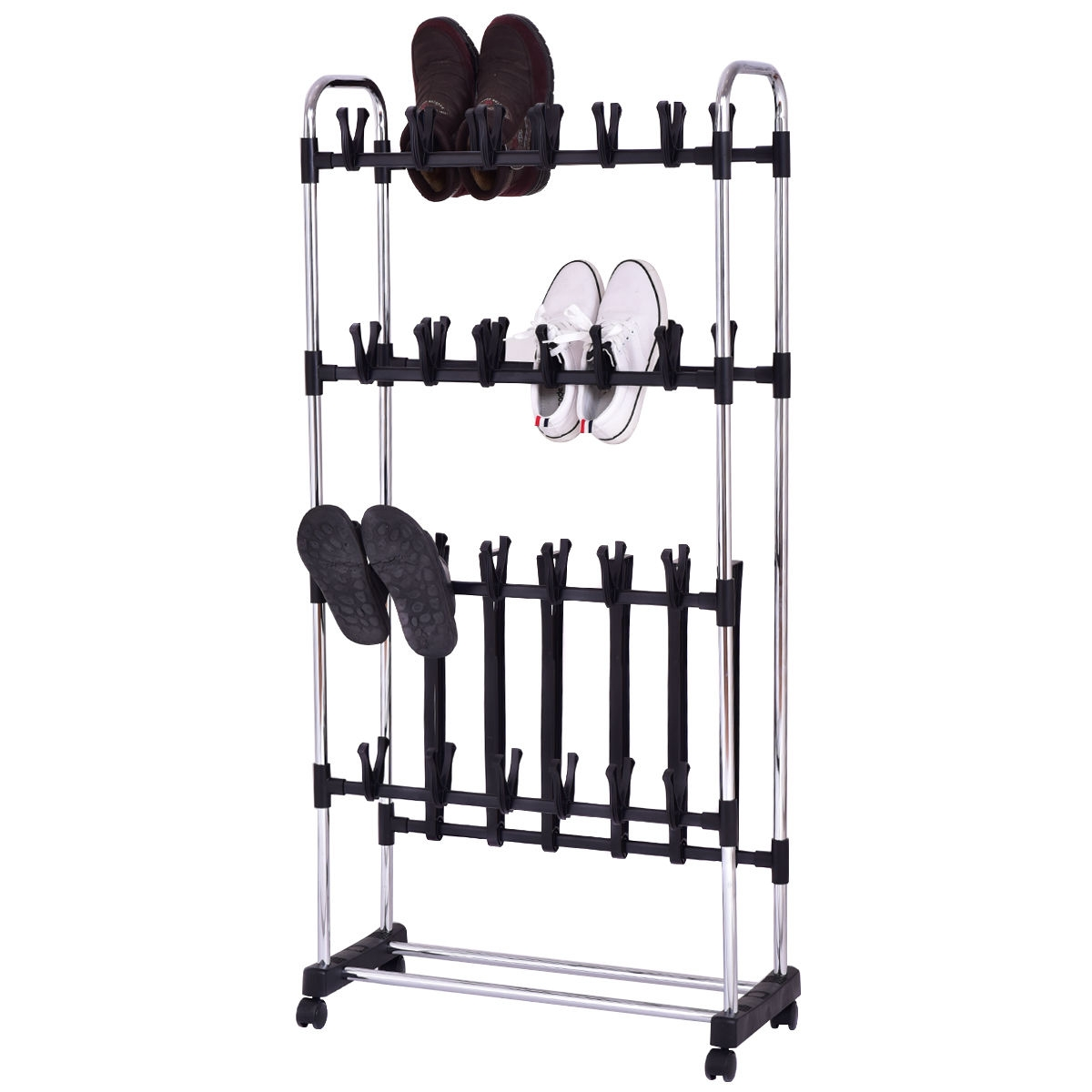 36 Pairs Clip On Shoe&Boot Rack Adjustable Storage Shelf