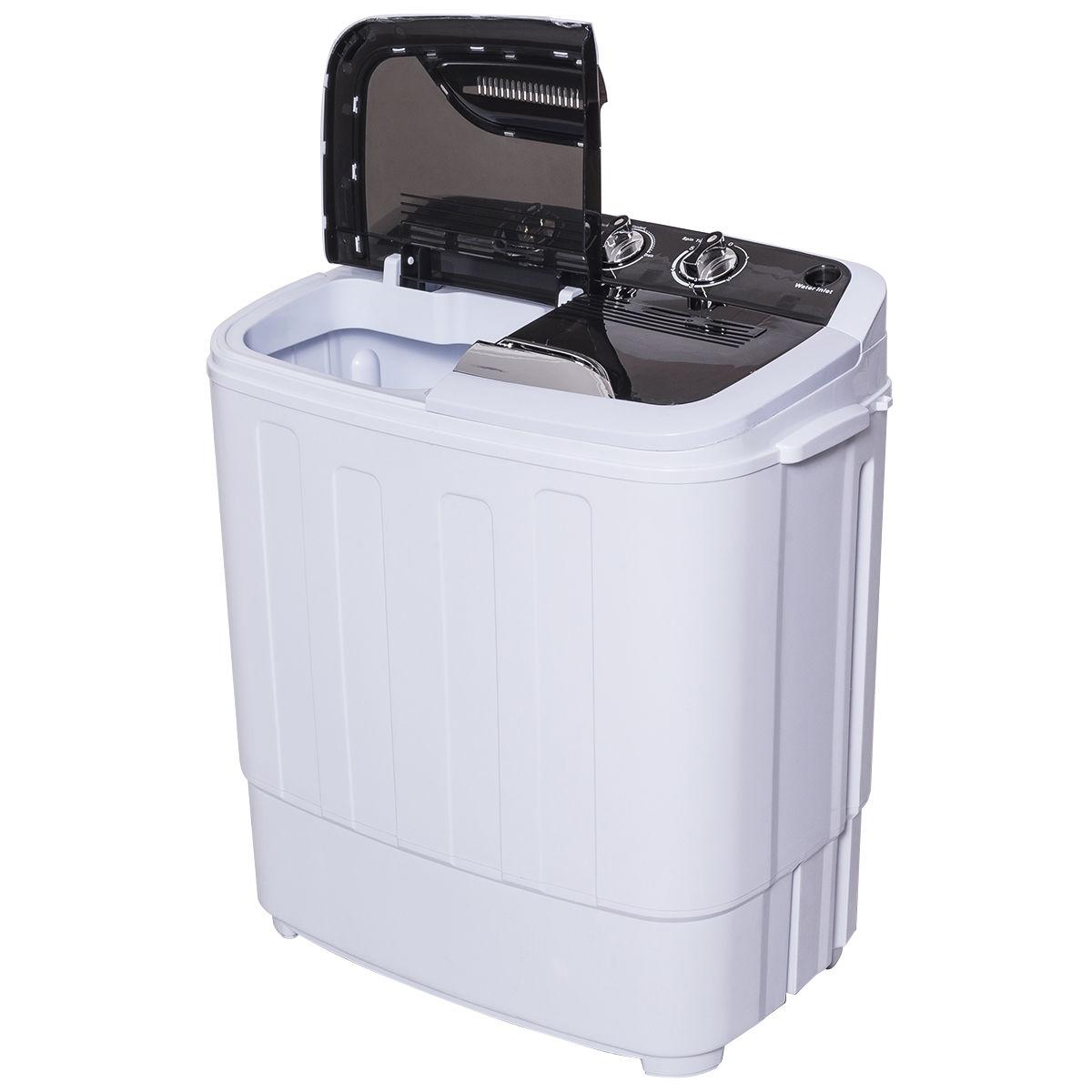 8 lbs Compact Mini Twin Tub Washing Machine Washer Spiner