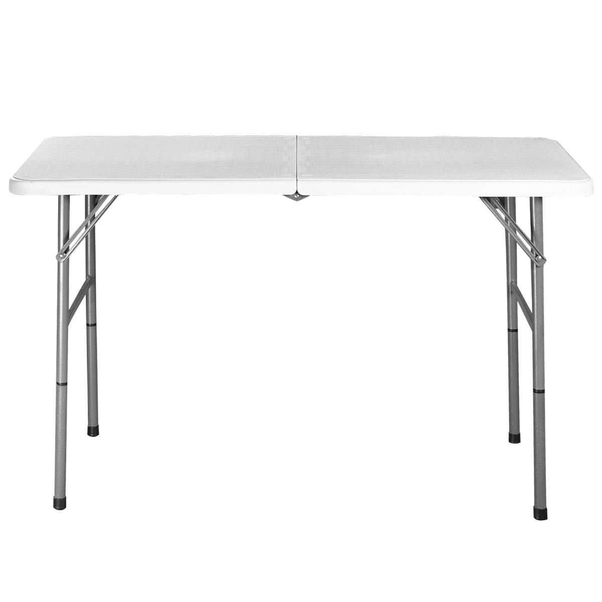 4' Folding Portable Plastic Outdoor Camp Table